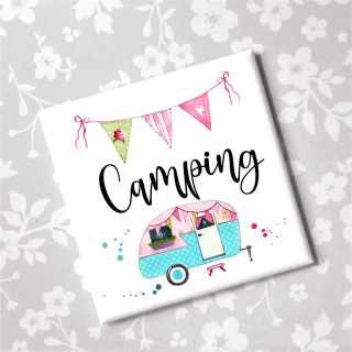 Camping Sprüche Magnet Kühlschrankmagnet