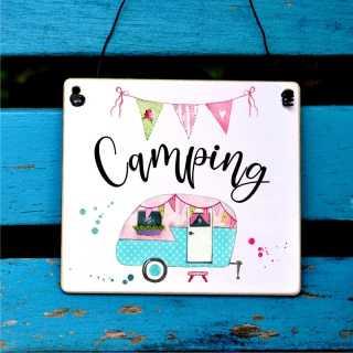 Camping Schild Geschenkidee für Campingfreunde