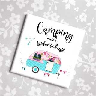Magnet mit Spruch Camping meine Leidenschaft
