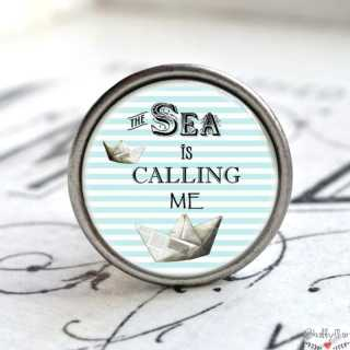 Maritimer Metallknauf Möbelknauf The Sea is calling me