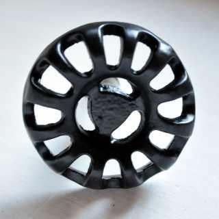 Industrial Möbelgriff VINTAGE WHEEL schwarz (4,6 cm)