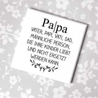 Magnet mit Spruch Definition Papa Vater Papi Vati Dad