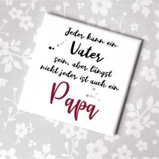 Magnet mit Spruch Papa Geschenkidee Vatertag