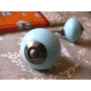 Möbelknopf (3,8 cm) OLD STYLE II blue
