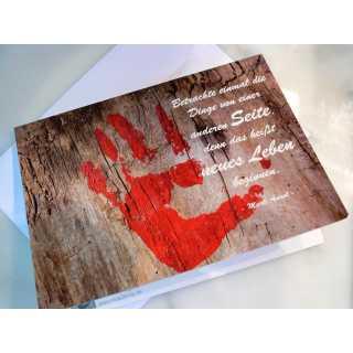 Grußkarte zum Klappen - Hand (A6)