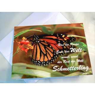 Grußkarte zum Klappen - Schmetterling (A6)