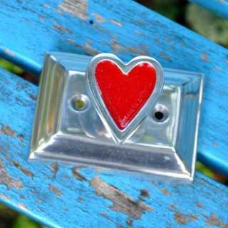 Schubladengriff - Möbelknauf mit Herz (7,8 x 5,5 cm) Möbelknopf