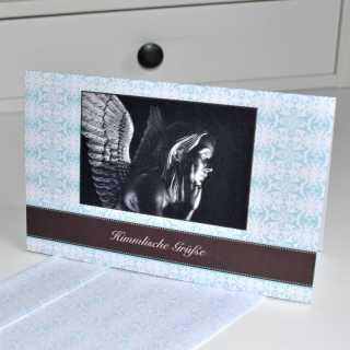 Grußkarte zum Klappen Himmlische Grüße - Engel