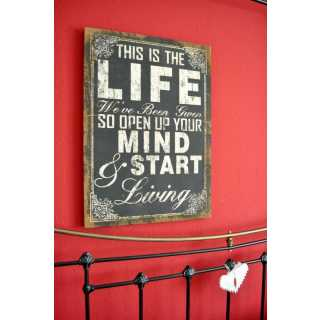 Canvas Schild THIS IS THE LIFE  im Vintage Home Style