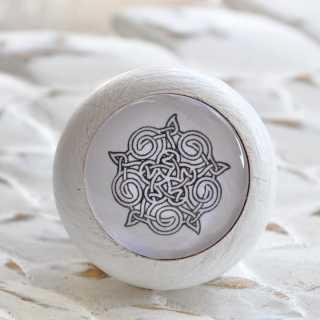 Möbelknauf Keltic Ornament im Shabby Chic