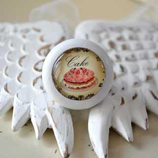 Shabby Chic Möbelknauf Strawberry Cake von Shabbyflair