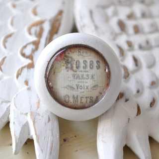 Shabby Chic Möbelknauf Rosalie von Shabbyflair