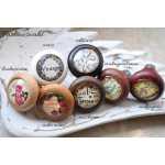 Shabby Chic Holzknauf Bonbons von Shabbyflair