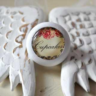 Shabby Chic Holzknauf Rose Cupcakes von Shabbyflair
