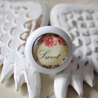 Shabby Chic Holzknauf Sweet von Shabbyflair