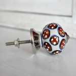 Möbelknauf aus Keramik SNOWFLAKE FLOWER chocolate