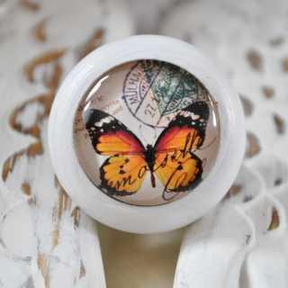 Möbelknauf Orange Butterfly von Shabbyflair