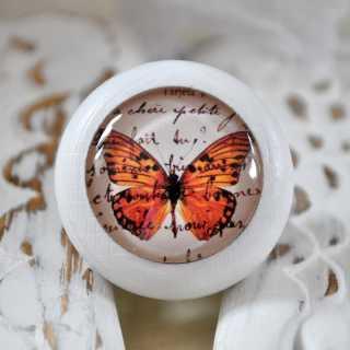 Möbelknauf Gentle Butterfly von Shabbyflair weiß