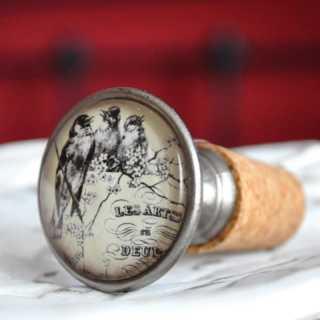 Vintage Flaschenkorken Weinverschluss  OISEAUX
