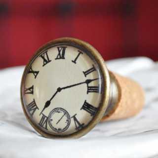 Vintage Flaschenkorken CLOCK
