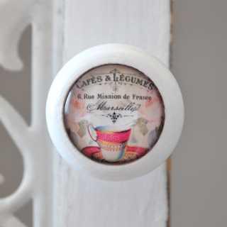 Möbelknopf CAFÈ MARSEILLE ROSE CUP von Shabbyflair