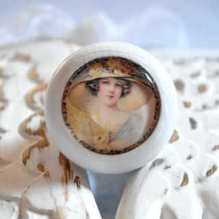 Shabby Chic Holzknauf Möbelknopf CHARLOTTE von Shabbyflair