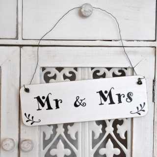 Vintage-Schild MR & MRS Hochzeitsschild im Shabby Chic