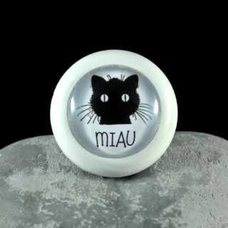 Holzknauf Möbelknauf MIAU aus der Black Cat Serie von Shabbyflair