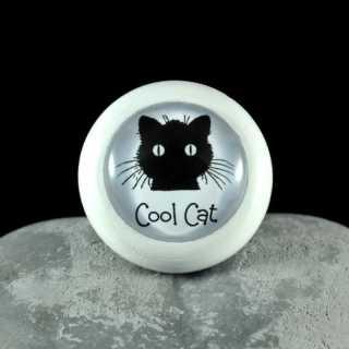 Holzknauf Möbelknauf COOL CAT aus der Black Cat Serie von Shabbyflair