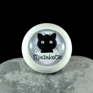 Holzknauf Möbelknauf MIEZEKATZE aus der Black Cat Serie von Shabbyflair