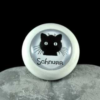 Holzknauf Möbelknauf SCHNURR aus der Black Cat Serie von Shabbyflair