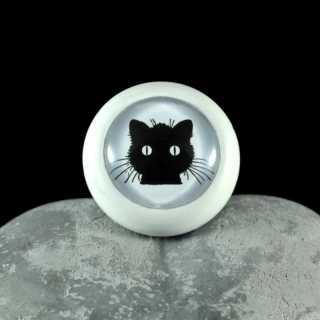 Holzknauf Möbelknauf BLACK CAT von Shabbyflair