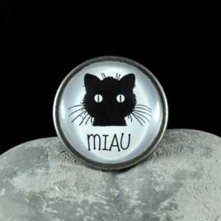 Metallknauf Möbelknauf MIAU aus der Black Cat Serie