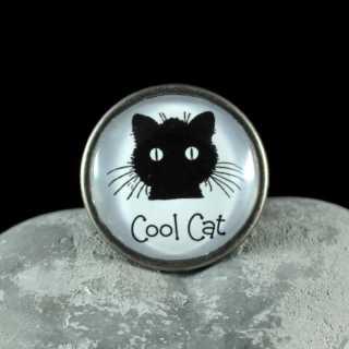 Metallknauf Möbelknauf COOL CAT aus der Black Cat Serie