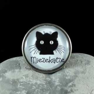 Metallknauf Möbelknauf MIEZEKATZE aus der Black Cat Serie