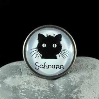Metallknauf Möbelknauf SCHNURR aus der Black Cat Serie von Shabbyflair