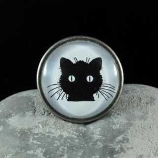 Metallknauf Möbelknauf BLACK CAT von Shabbyflair