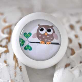Holzknauf Möbelknauf OWL brown von Shabbyflair