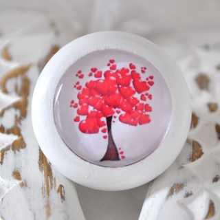 Holzknauf Möbelknauf HEARTY TREE von Shabbyflair