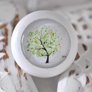 Holzknauf Möbelknauf SPRING TREE von Shabbyflair