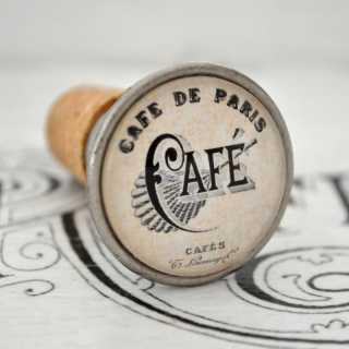 Vintage Flaschenkorken Weinkorken Flaschenverschluss CAFÉ de PARIS