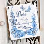 Vintage Hochzeit Schild LIEBE ist wie Schmetterlinge im...