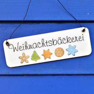 Weihnachtliches Holzschild WEIHNACHTSBÄCKEREI