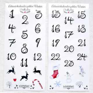 Adventskalender Zahlen Aufkleber 1 24 Wintertime