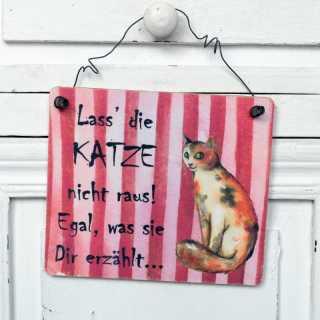 Katzenschild Katze nicht raus lassen