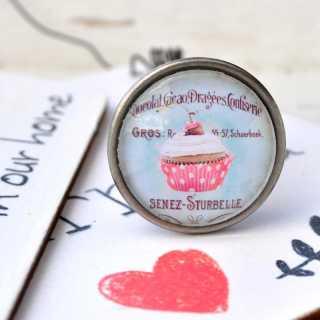 Möbelknöpfe Vintage Cupcakes Modell CHERRY CUPCAKE