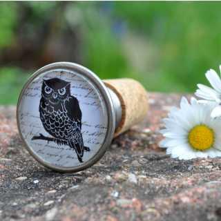 Vintage Flaschenkorken BLACK OWL