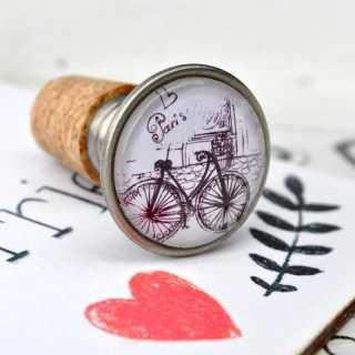 LOVE IN PARIS Flaschenkorken LE VELO