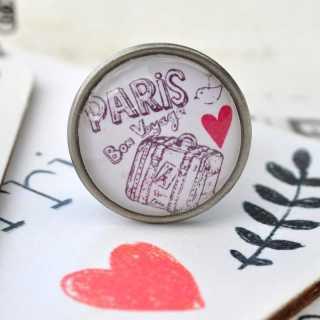 Möbelknöpfe LOVE in PARIS Metallknauf BON VOYAGE