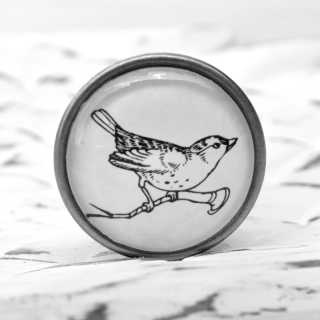 Möbelknöpfe VINTAGE SPRINGTIME Metallknauf BIRD